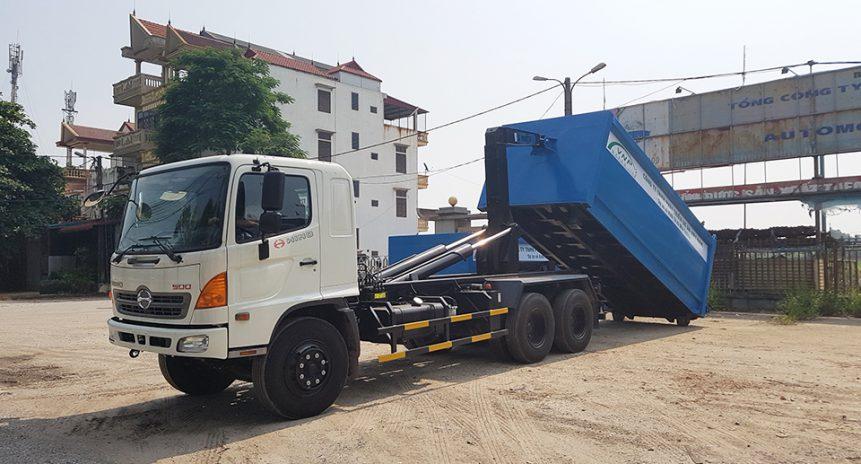 Tổng hợp 3 mẫu xe chở rác thùng rời tiêu chuẩn Hàn Quốc