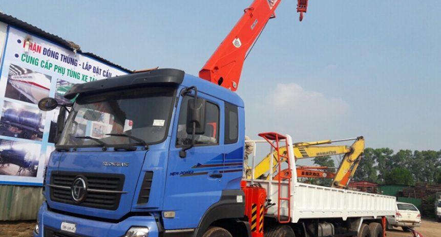 Khám phá sự mạnh mẽ của xe tải gắn cẩu Dongfeng