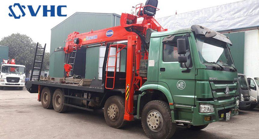 Xe tải gắn cẩu 15 tấn Kanglim giải pháp vận chuyển hàng hóa ưu việt