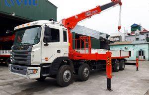 Xe cẩu tự hành 10 tấn trên JAC HFC
