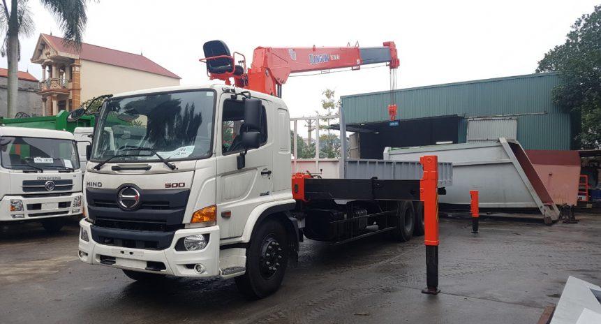 Giá xe tải Hino gắn cẩu tự hành Kanglim 8 tấn