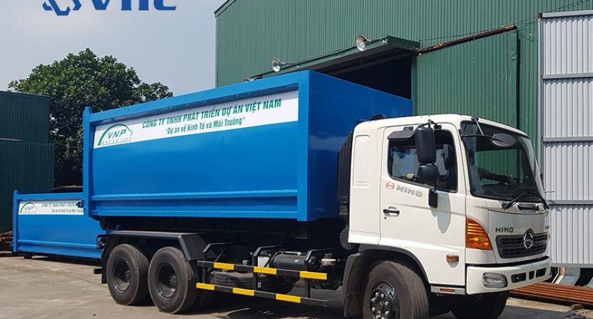 Tổng hợp 3 xe chở rác thùng rời – Xe chuyên dụng tiêu chuẩn Hàn Quốc
