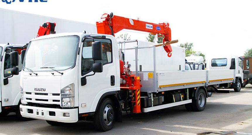 Xe tải gắn cẩu 3 tấn dòng sản phẩm đa dụng và phổ thông