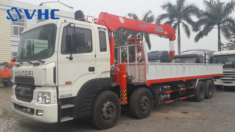xe tải gắn cẩu tự hành kanglim