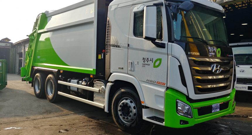 Bán xe chở rác, xe cuốn ép rác tiêu chuẩn Hàn Quốc
